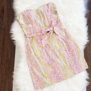 H&M | Polka Dot Multicolored Strapless Dress 6